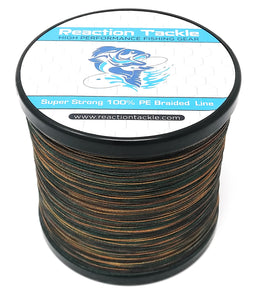 Reaction Tackle Braided Fishing Line- Green Camo
