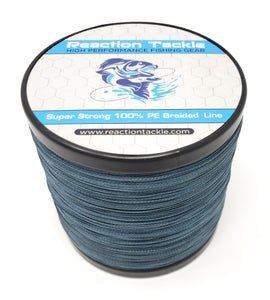 Reaction Tackle Braided Fishing Line- Low-Vis Gray