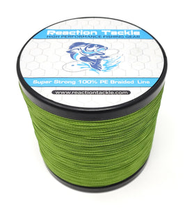 Reaction Tackle Braided Fishing Line- Low-Vis Green