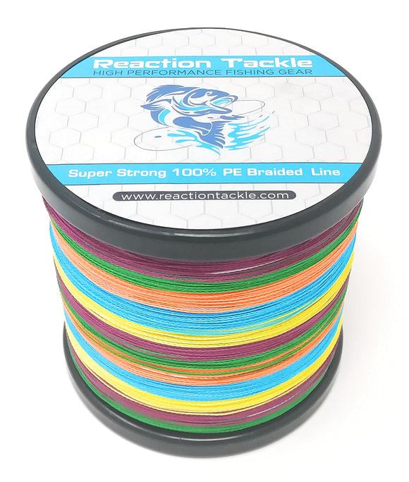 Reaction Tackle Braided Fishing Line- Multi-Color