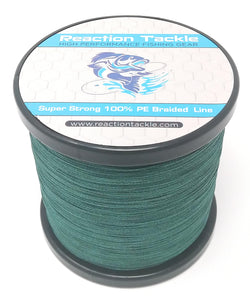 Reaction Tackle Braided Fishing Line- Moss Green