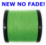 Reaction Tackle Braided Fishing Line- NEW NO FADE Hi-Vis Green