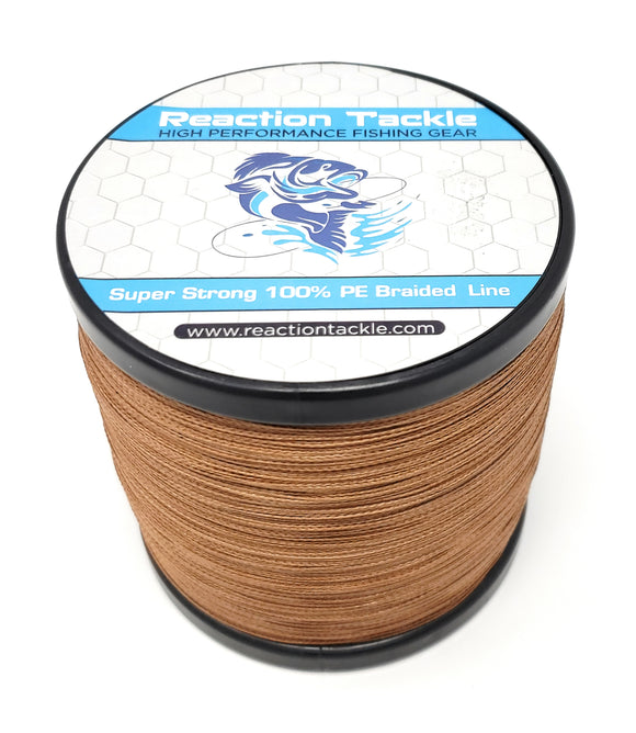 Reaction Tackle Braided Fishing Line- Timber Brown