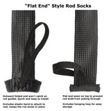 Fishing Rod Cover/Rod Sleeve/Rod Sock (2-PACK)