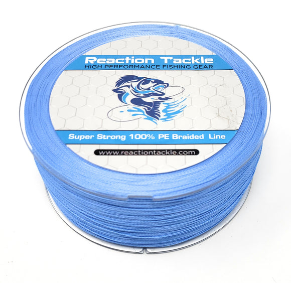 Reaction Tackle Braided Fishing Line- NEW NO FADE BLUE