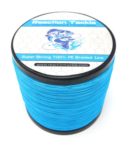 Reaction Tackle Braided Fishing Line- Sea Blue