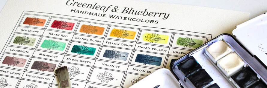 Greenleaf & Blueberry Artisanal Handmade Watercolors How To Paint A Watercolor Color Chart