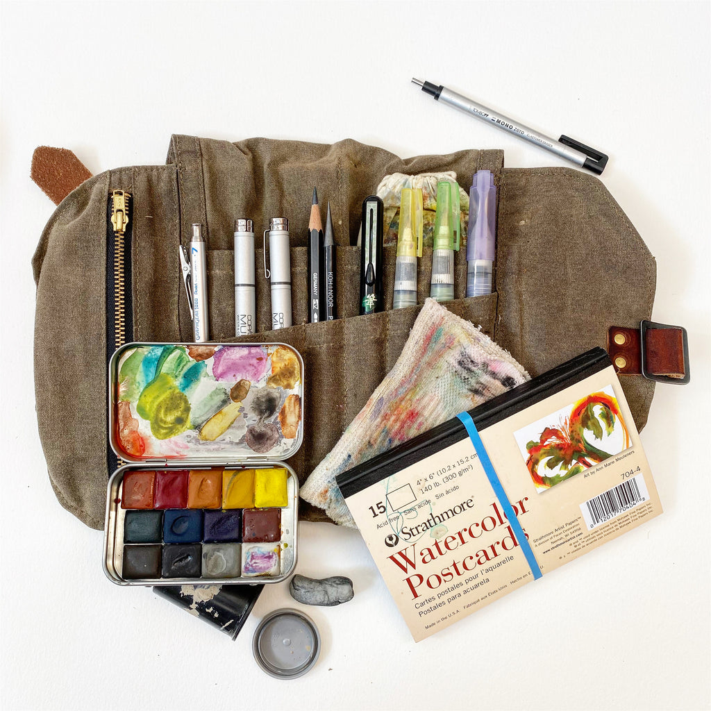 Greenleaf & Blueberry Basic Guide To Plein Air Painting Art Supplies Handmade Watercolor Paints