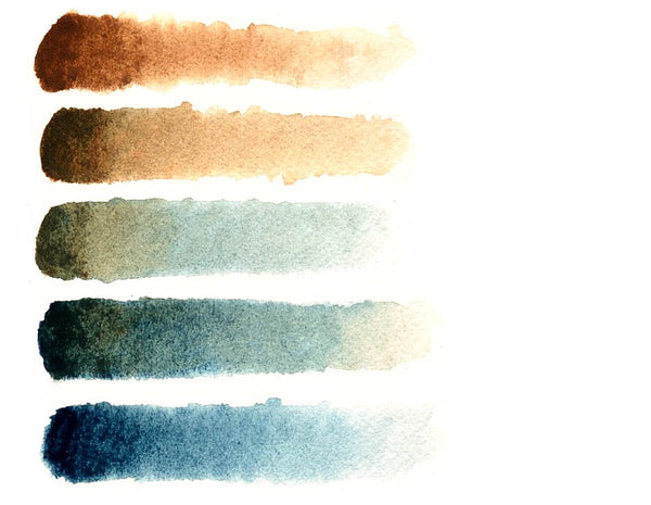 Greenleaf & Blueberry Artisanal Handmade Watercolors Wild Bird's Egg Palette Watercolor Color Mixing