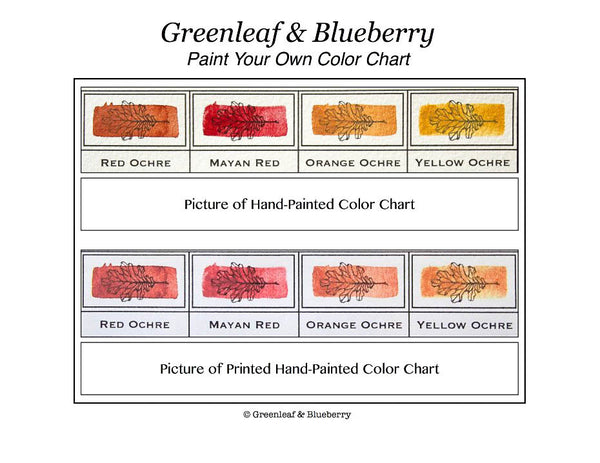 How To Paint Your Own Watercolor Color Chart Greenleaf Blueberry