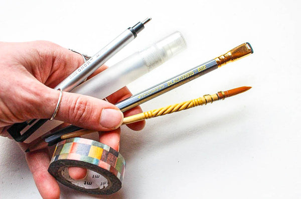 Greenleaf & Blueberry Artisanal Handmade Watercolors Tools You Need To Start A Sketchbook