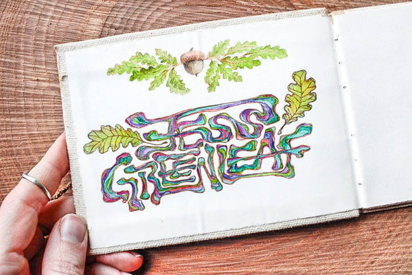 Greenleaf & Blueberry Artisanal Handmade Watercolors Starting Your Sketchbook