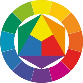 Greenleaf & Blueberry Handmade Watercolors Color Mixing Color Wheel How to make a color wheel