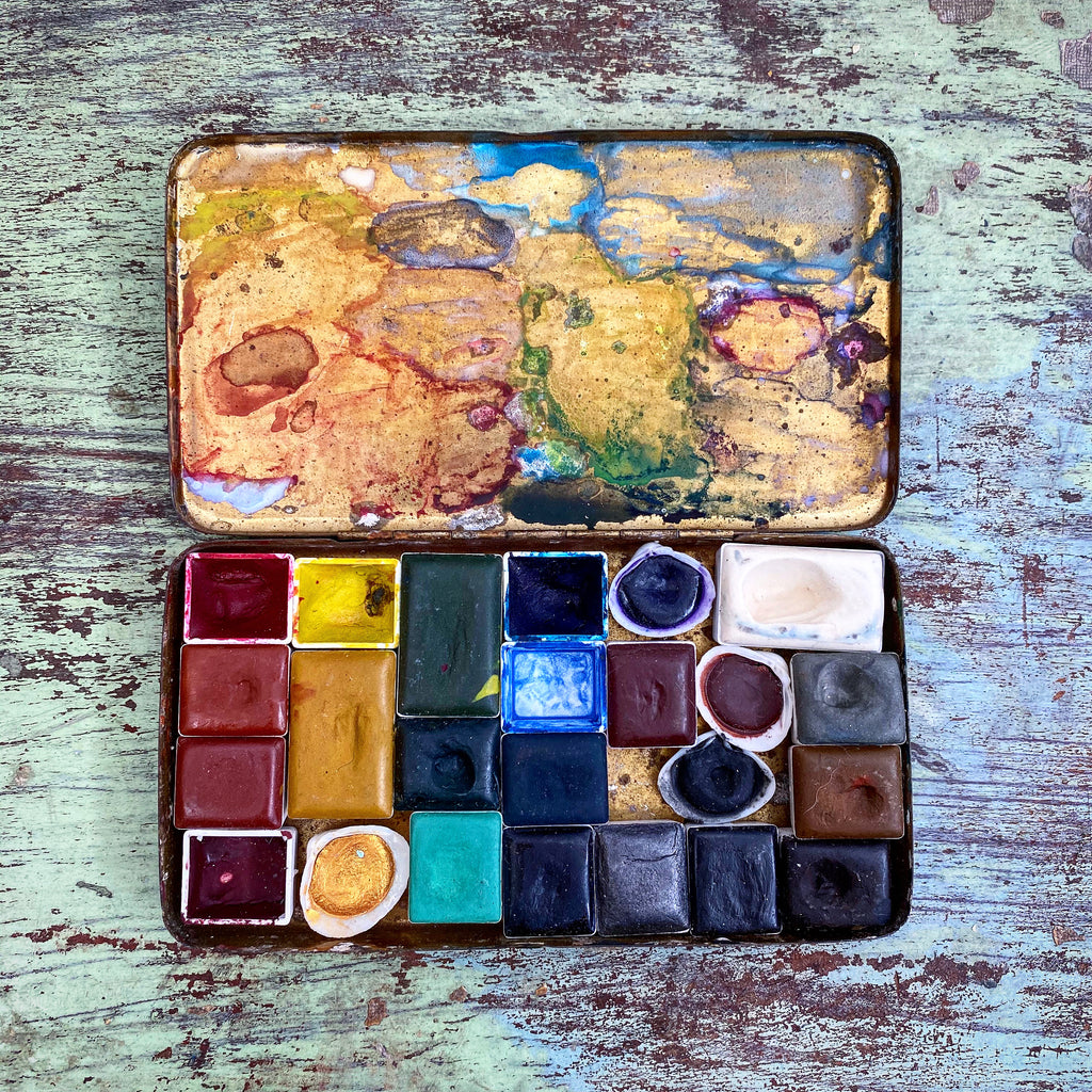 Greenleaf and Blueberry Jess Greenleaf Artist Watercolor Palette Plein Air Painting Travel Watercolors