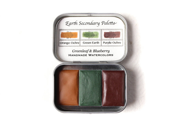 Greeneleaf & Blueberry Artisanal Handmade Watercolors The Secondary Travel Set