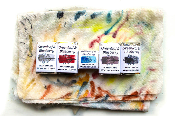 Greenleaf & Blueberry Artisanal Handmade Watercolors Single Pigment Palettes Azurite