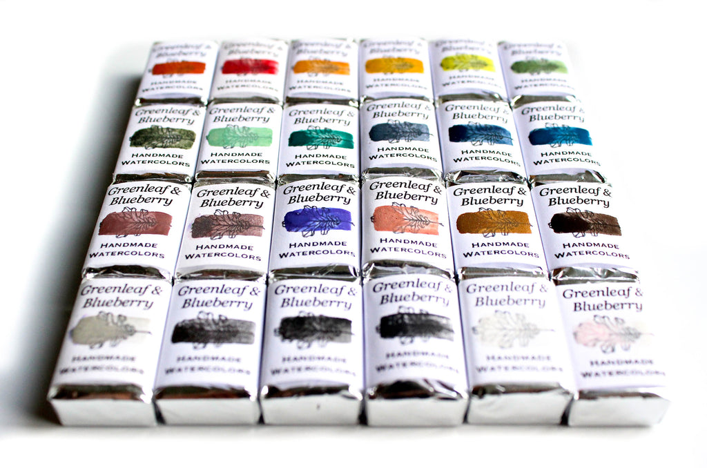 Greenleaf & Blueberry Artisanal Handmade Watercolors The Epic Palette
