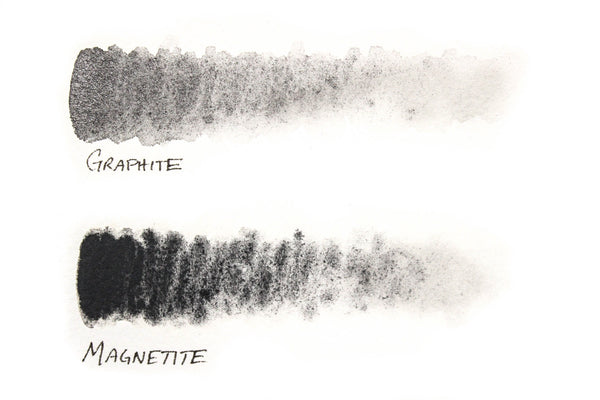 Greenleaf & Blueberry Artisanal Handmade Watercolors Graphite & Magnetite Color Chart