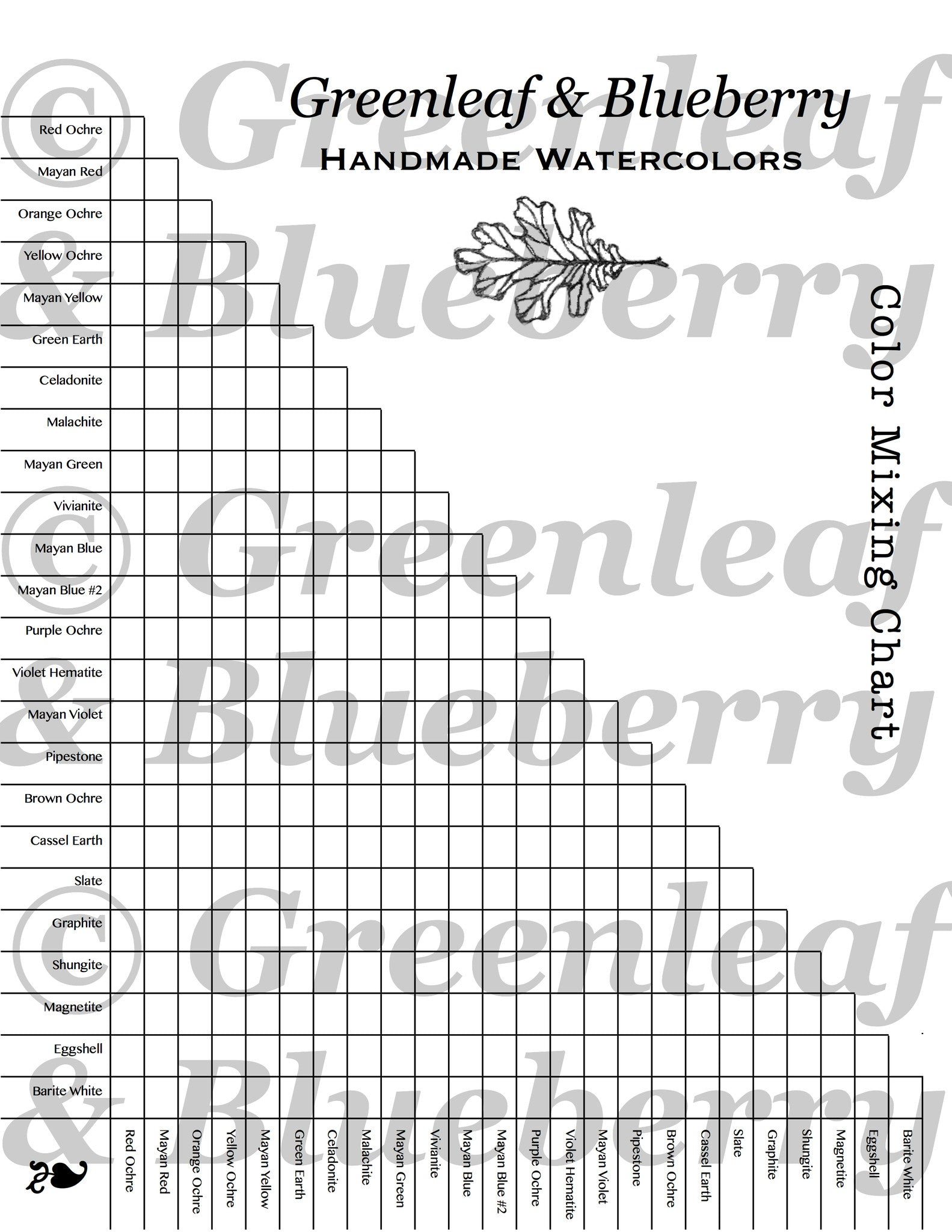 image about Blank Color Chart Printable identify Coloration Blending Chart (Blank), Paint-It-By yourself, Electronic