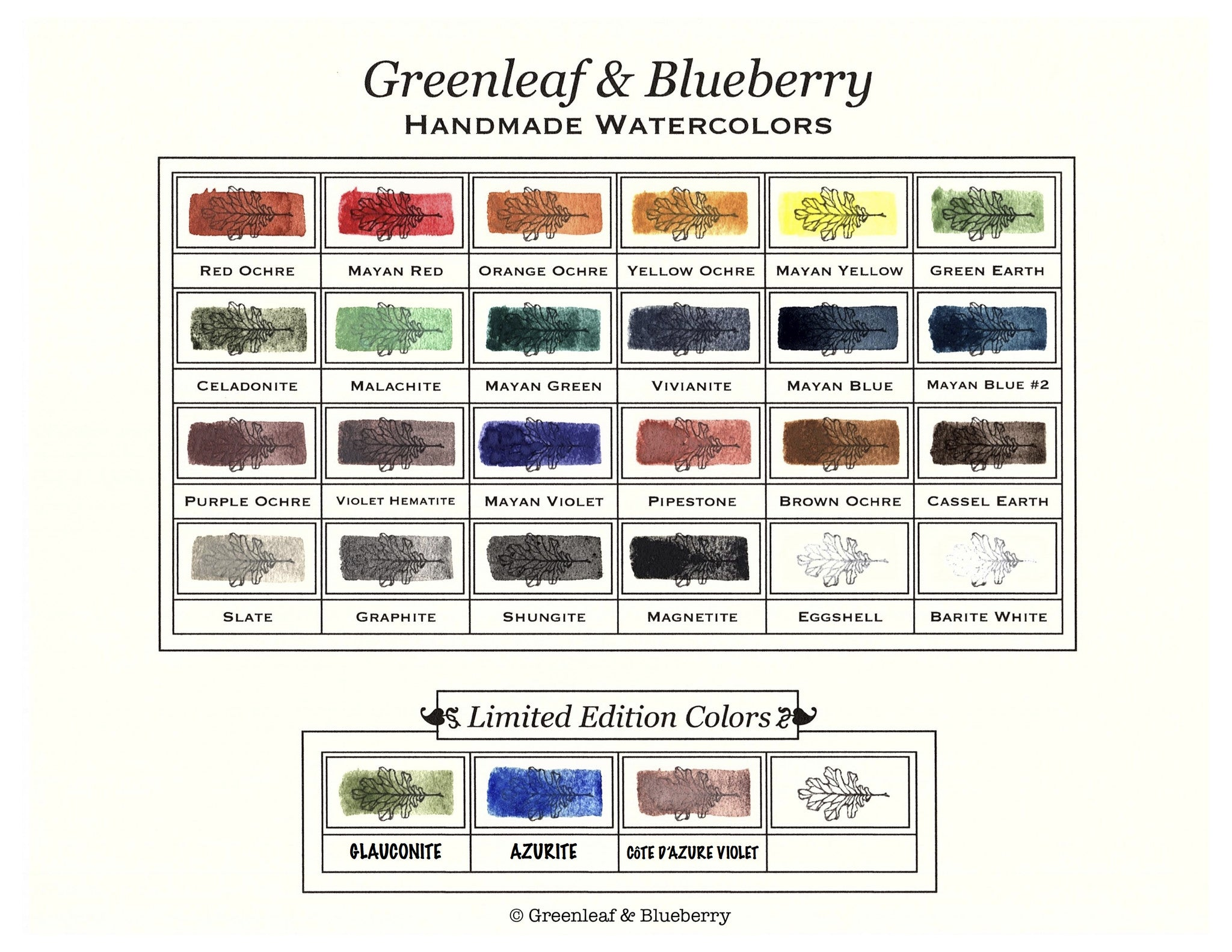 Color Chart Blank Paint It Yourself Digital Download Greenleaf