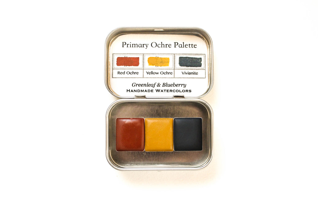 Primary Ochre Set w/ Vivianite (Half-Pans)