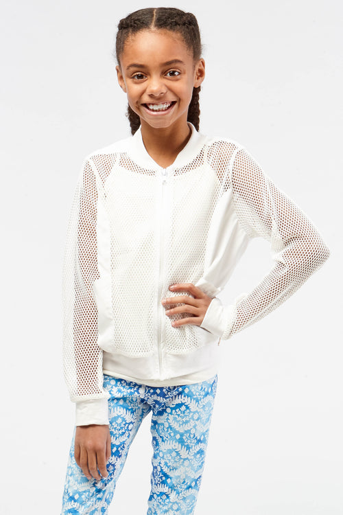 Keya Mesh Bomber for Girls