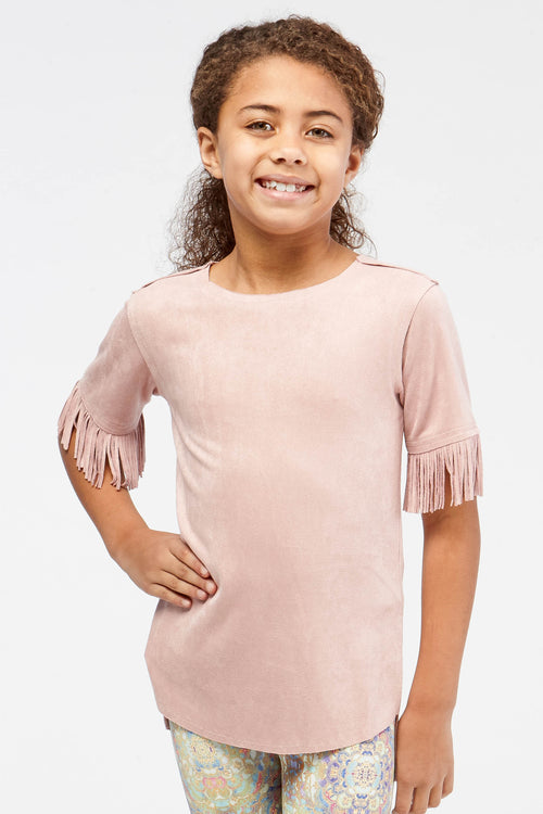 Navi Fringe Top for Girls