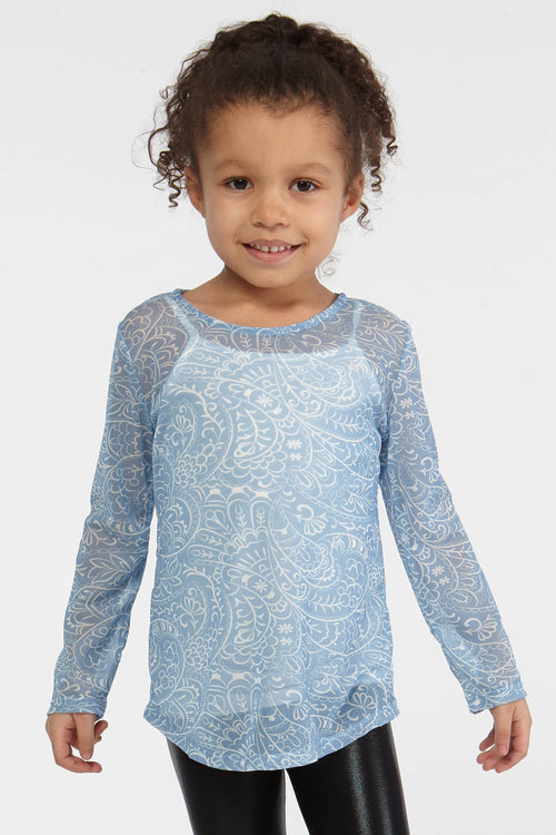 Mesh Henna Top for Girls