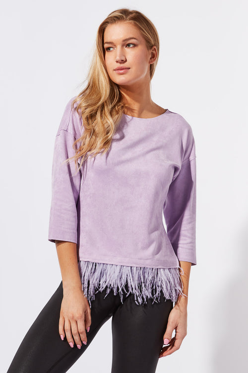 Indra Feather Top
