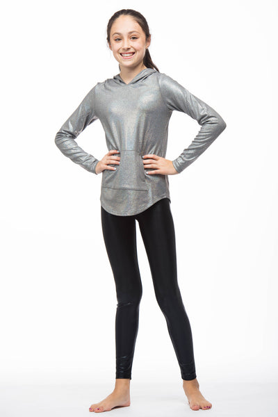 Lola Metallic Hoodie for Girls