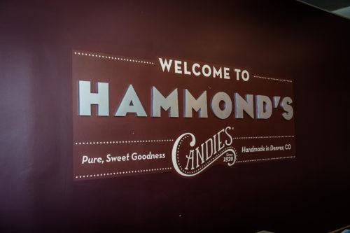 picture of hammond's Candies wall