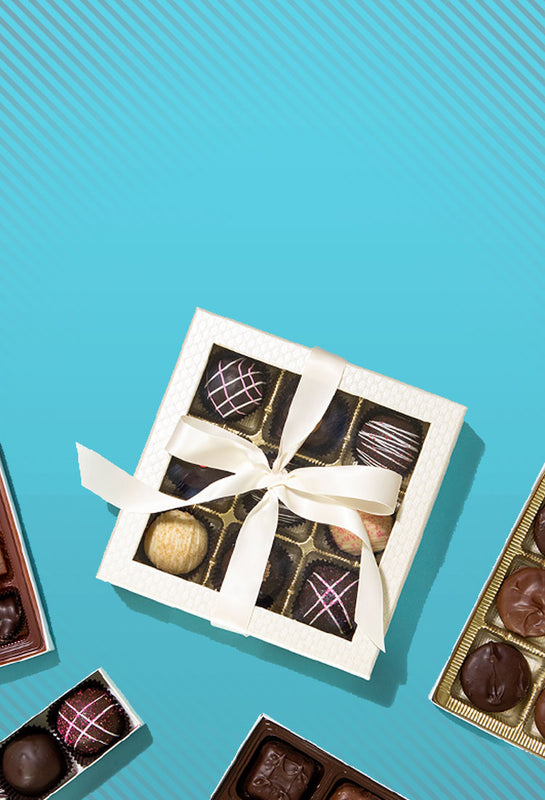 mothers day banner of chocolate boxes