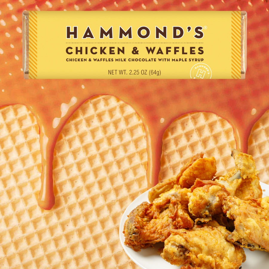 Chicken and Waffles Milk Chocolate Candy Bar Bundles