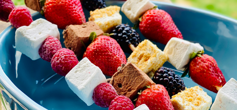 featured fruit kabobs with marshmallow