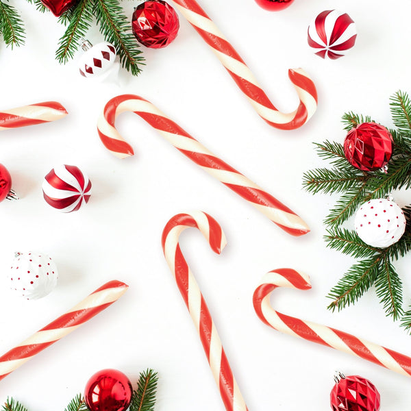 Peppermint Candy Canes Glamour Shot