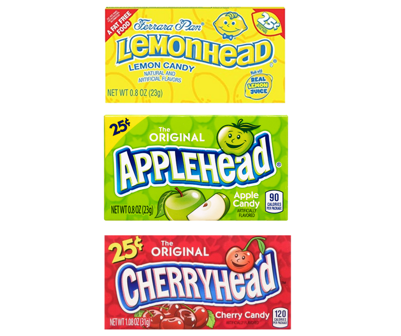 Lemon head Pack of 3 lemon, apple, cherry