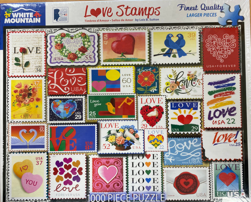 1000 Piece Puzzle-love stamps