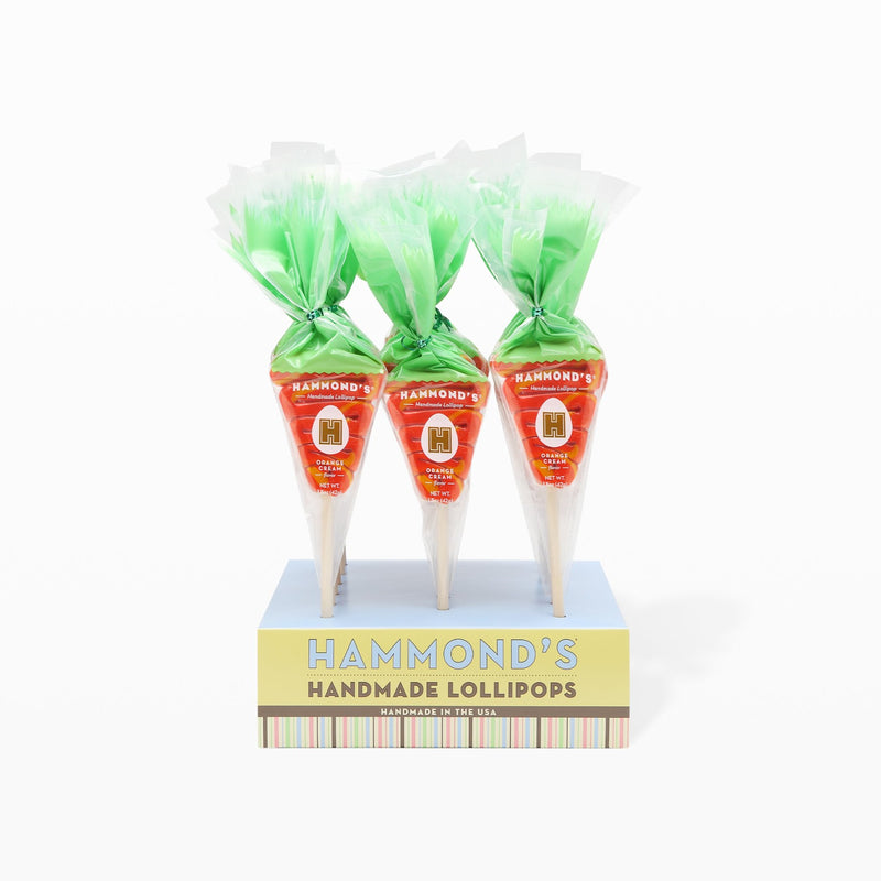 Case of 18 Carrot Lollipops