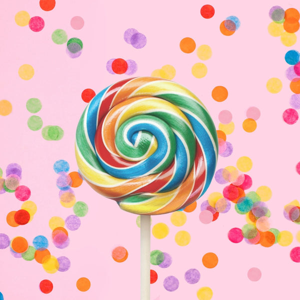 Rainbow Blast Lollipop Glamour Shot