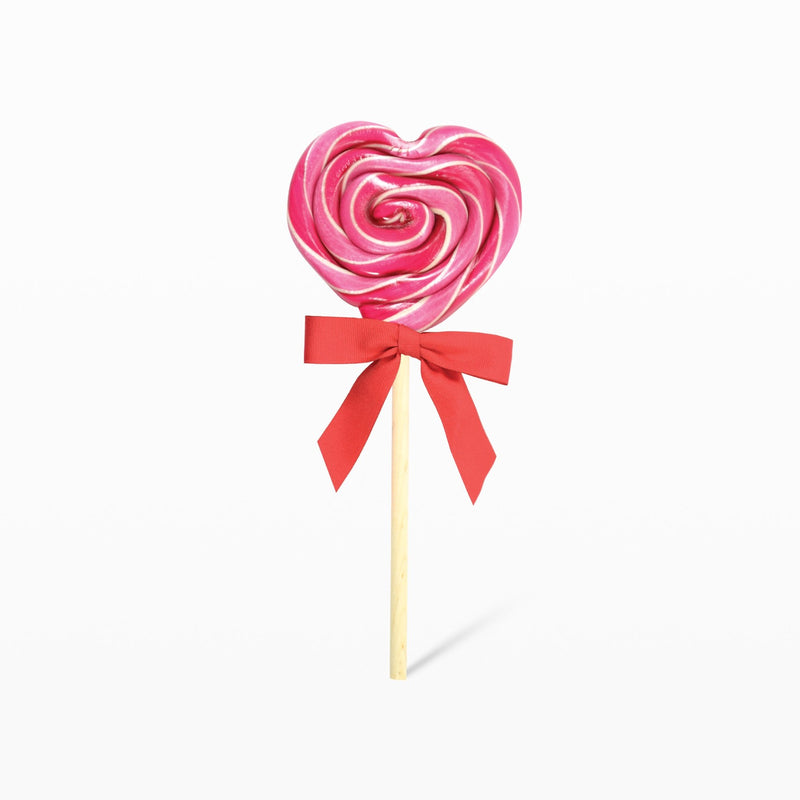 Organic Cherry Heart Lollipop
