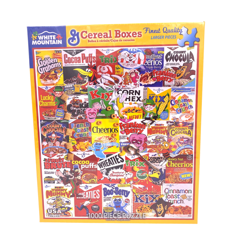 1000 Piece Puzzle- cereal boxes