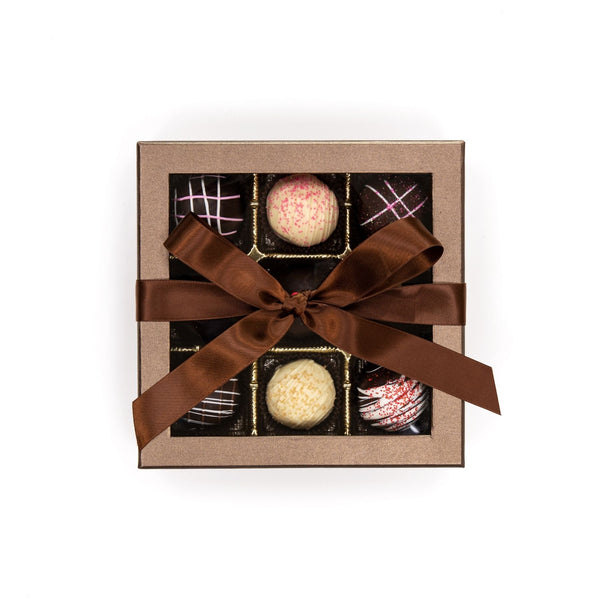 Large Truffle Chocolate Brown Box with Bow