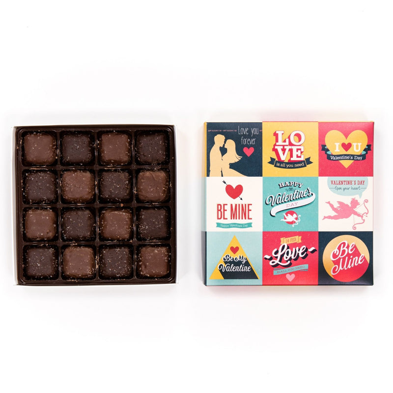 Assorted Salted Caramel Chocolate Vintage Box
