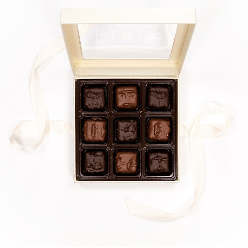 Assorted Chocolate Covered Marshmallow White Box with Bow