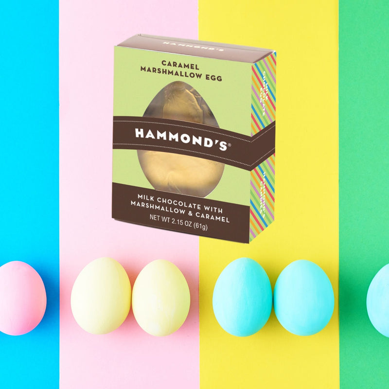 Caramel Marshmallow Milk Chocolate Egg Glamour Shot