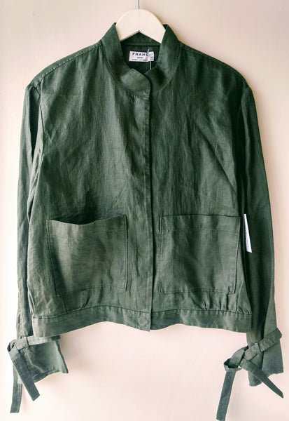 Frame Linen new army jacket