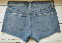 Denim cutoff shorts by Frame