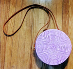 Gia Wicker purse in Violet