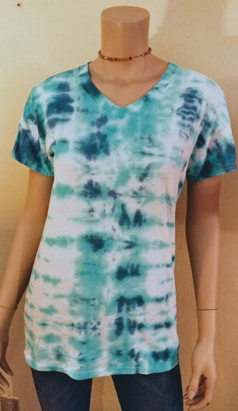 Striped turquoise/navy tee