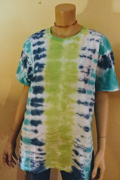 Striped green trees tee